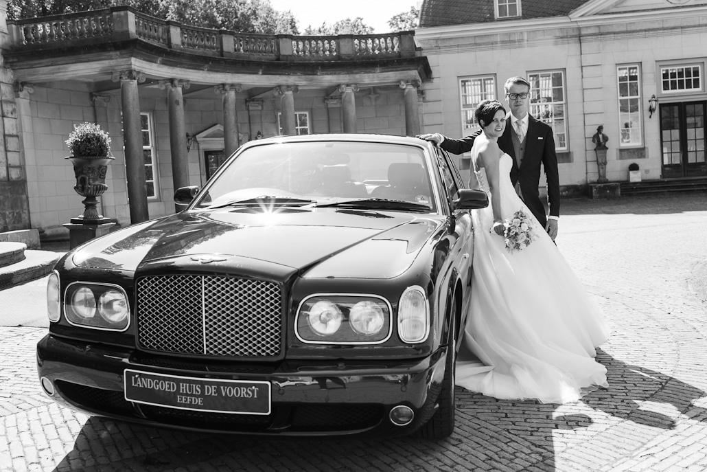 Trouwauto Bentley Huis de Voorst, Eefde