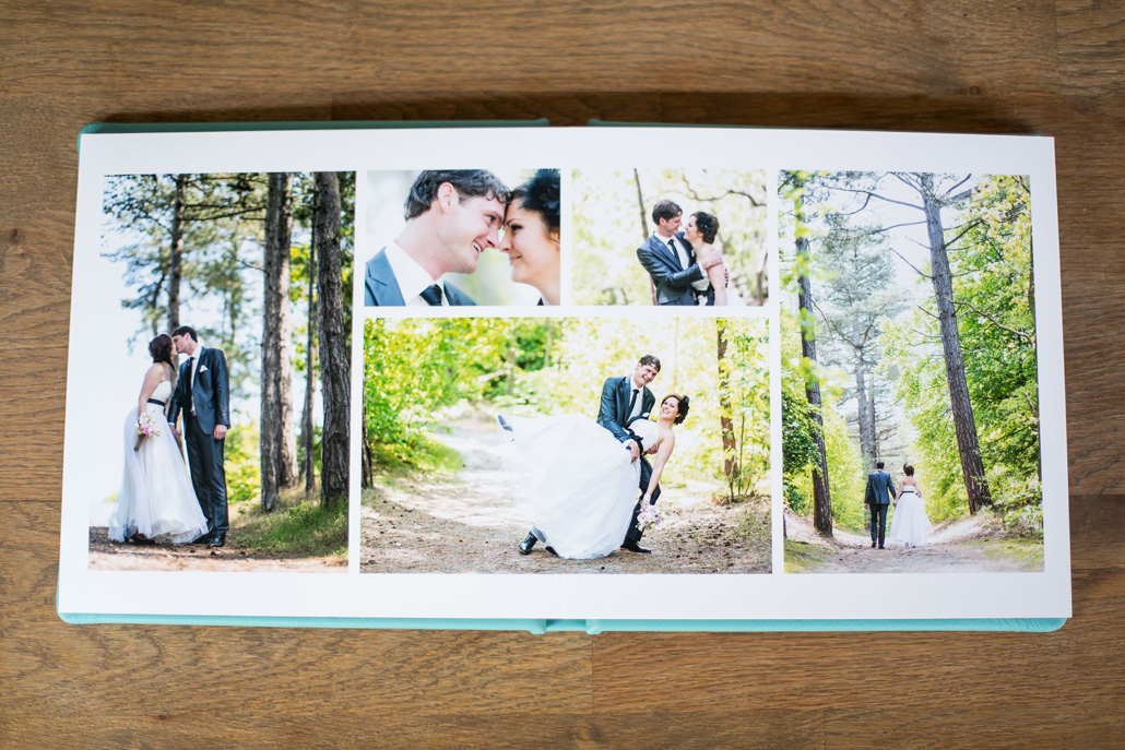 Wedding spread KISS book